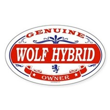WOLF HYBRID Oval Decal
