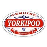YORKIPOO Oval Decal