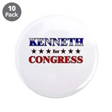 "KENNETH for congress 3.5"" Button (10 pack)"