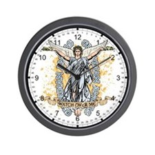 Guardian Angels Wall Clock