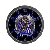 Extreme DirtBike Blue Wall Clock