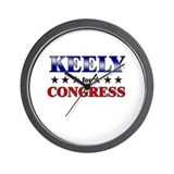 KEELY for congress Wall Clock