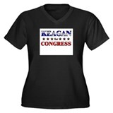 KEAGAN for congress Women's Plus Size V-Neck Dark