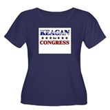 KEAGAN for congress Women's Plus Size Scoop Neck D
