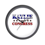 KAYLIE for congress Wall Clock
