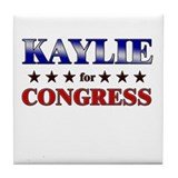 KAYLIE for congress Tile Coaster
