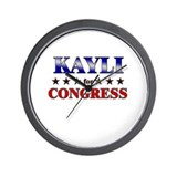 KAYLI for congress Wall Clock