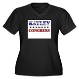 KAYLEY for congress Women's Plus Size V-Neck Dark