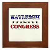 KAYLEIGH for congress Framed Tile
