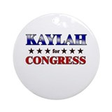 KAYLAH for congress Ornament (Round)