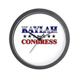 KAYLAH for congress Wall Clock