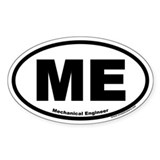 "Mechanical Engineer ""ME"" Oval Decal"
