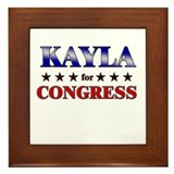 KAYLA for congress Framed Tile