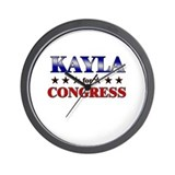 KAYLA for congress Wall Clock
