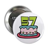 57th Birthday Cake 2.25&quot; Button