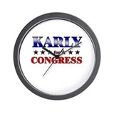 KARLY for congress Wall Clock