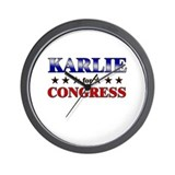KARLIE for congress Wall Clock