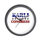 KARLI for congress Wall Clock