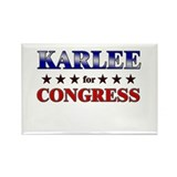 KARLEE for congress Rectangle Magnet