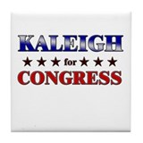 KALEIGH for congress Tile Coaster