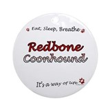 Coonhound Breathe Ornament (Round)