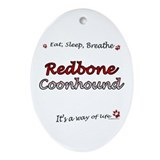Coonhound Breathe Oval Ornament