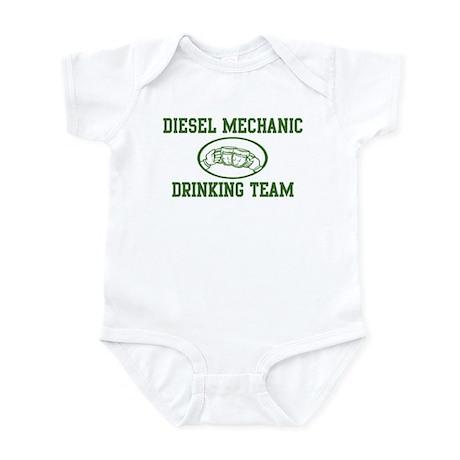 Diesel Mechanic Drinking Team Infant Bodysuit
