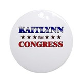 KAITLYNN for congress Ornament (Round)