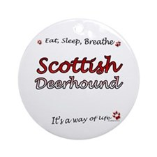 Deerhound Breathe Ornament (Round)
