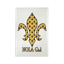 NOLA Girl Fleur de lis (gold) Rectangle Magnet