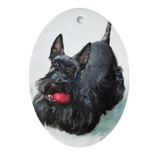 Scottie DOG Oval Ornament