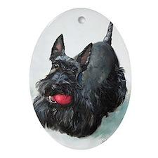 Scottie DOG Oval Ornament