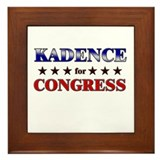KADENCE for congress Framed Tile