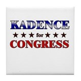 KADENCE for congress Tile Coaster