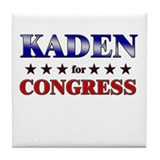 KADEN for congress Tile Coaster