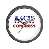KACIE for congress Wall Clock