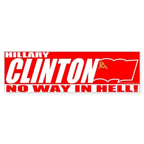 No Way In Hell Bumper Sticker