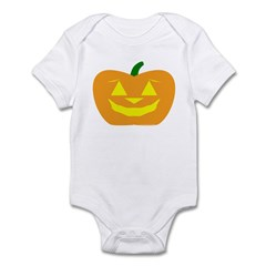 Smiling Pumpkin Halloween Infant Bodysuit
