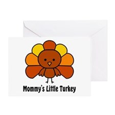 Mommy's Litttle Turkey Greeting Card