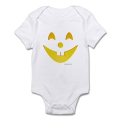 Grinning Pumpkin Face Infant Bodysuit