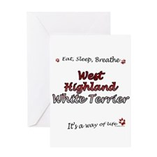 Westie Breathe Greeting Card