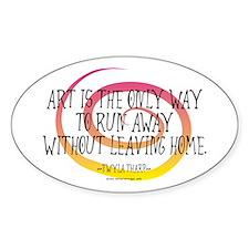 Runaway Artist II Oval Stickers