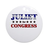 JULIET for congress Ornament (Round)