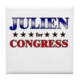 JULIEN for congress Tile Coaster