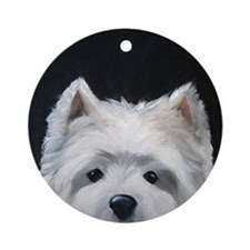 WESTIE DOG Ornament (Round)