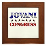 JOVANI for congress Framed Tile