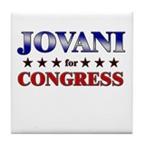 JOVANI for congress Tile Coaster