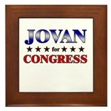 JOVAN for congress Framed Tile