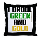 GREEN AND GOLD (Boston) Throw Pillow