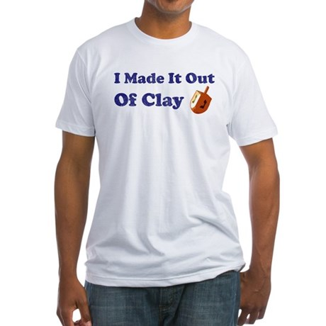 Dreidel Out Of Clay Fitted T-Shirt